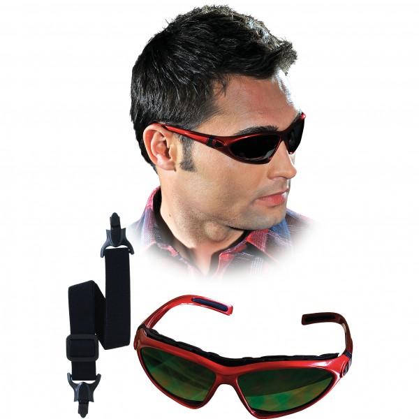 Schutzbrille - OOINDI - Rot und Schwarz - Mit Gummiband und Bügeln