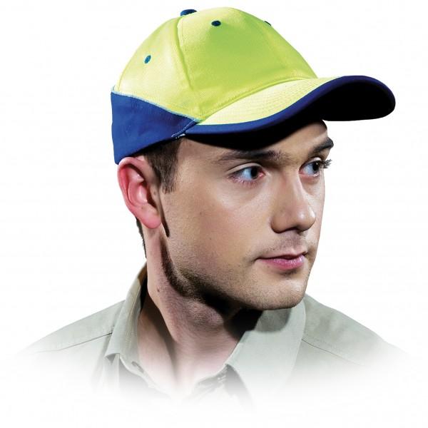 Cappy - Kappe - CZT - Modernes Design Gelb Blau