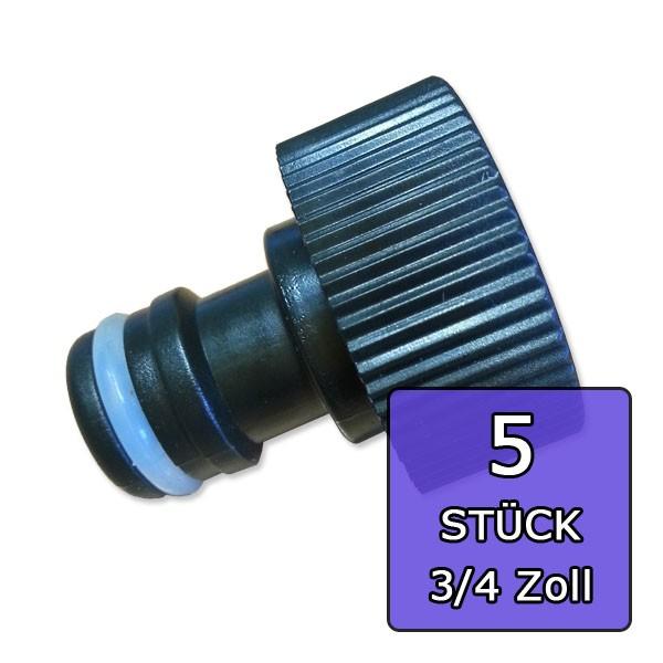 Hahnanschluss - 5 STÜCK - 3/4 Zoll (Ø19mm)- Innengewinde