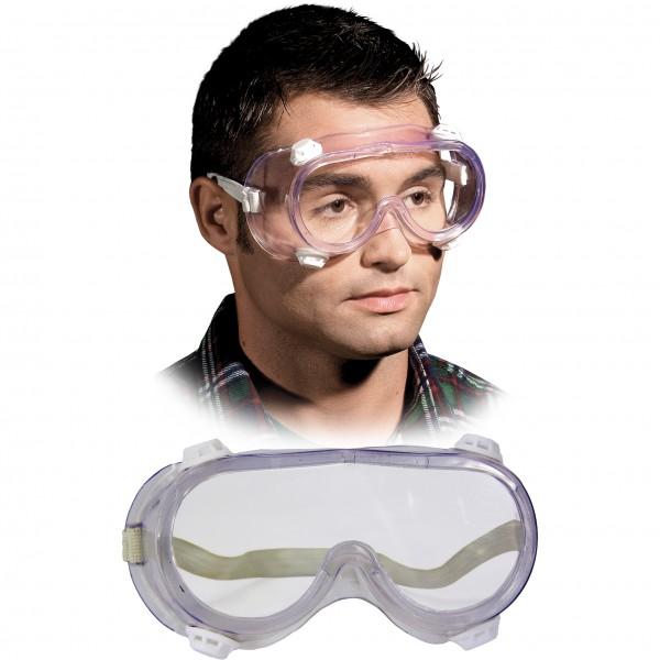 Vollsichtbrille, Schutzbrille - GOG - Transparent - Optische Klasse 1