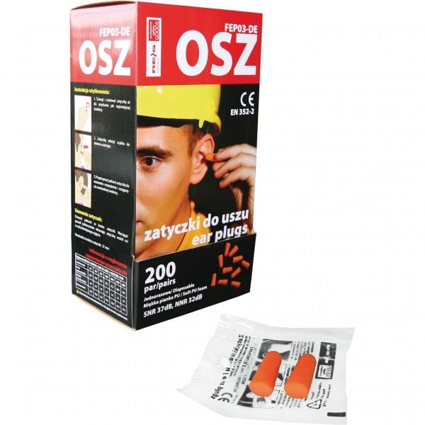 10x Einweg Ohrstöpsel - OSZ - SNR 36dB