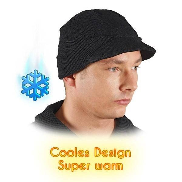 3x Wintermütze - CZBAS - Beanie Mütze - Super Warm - Schwarz