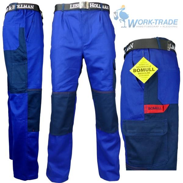 Arbeitshose - BOMULL - Blau - 100% Baumwolle