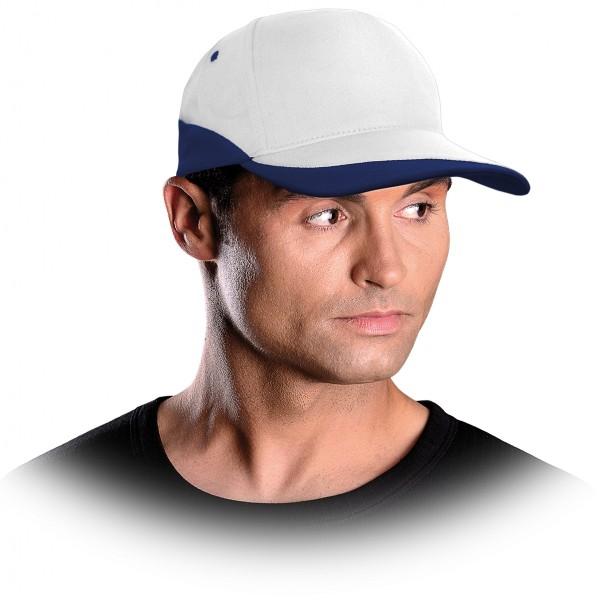 Cappy - Kappe - CZC - Modernes Design Weiß und Blau
