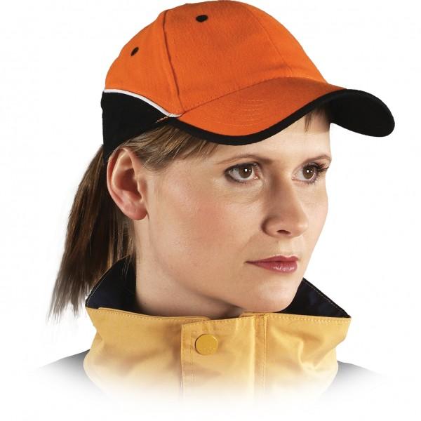 Cappy - Kappe - CZT - Modernes Design Orange Schwarz Weiß