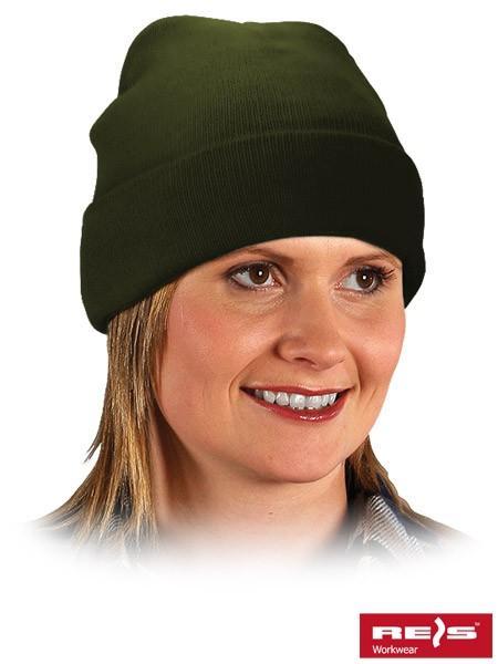 3x Wintermütze - BAW - 100% Acrylgarn - Olivgrün