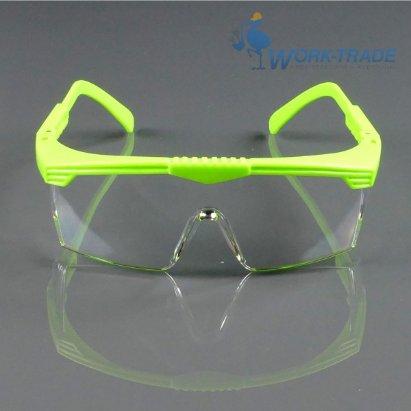 12 Stück Schutzbrille - LEA - Grüner Rahmen - Optische Klasse 1