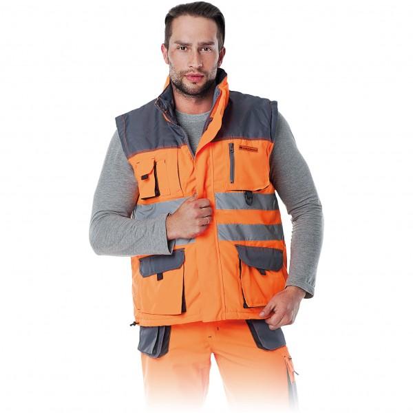 Arbeitsweste - LHXV - Leber & Hollman - Orange / Grau