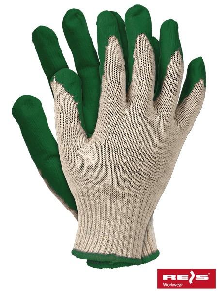 10 Paar Arbeitshandschuhe - RUN - 100% Baumwolle - Grün - Gr. 9