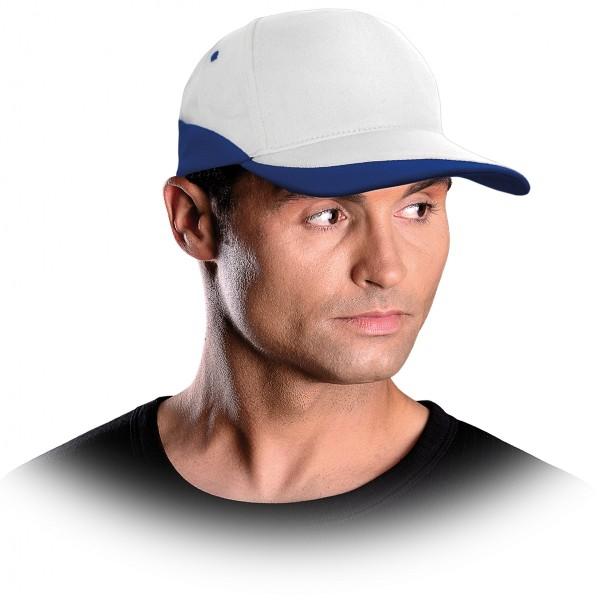 Cappy - Kappe - CZC - Modernes Design Weiß und Hellblau