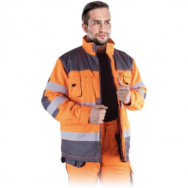 Arbeitsjacke - LHWXJ - Winter - Leber & Hollman - Orange / Grau