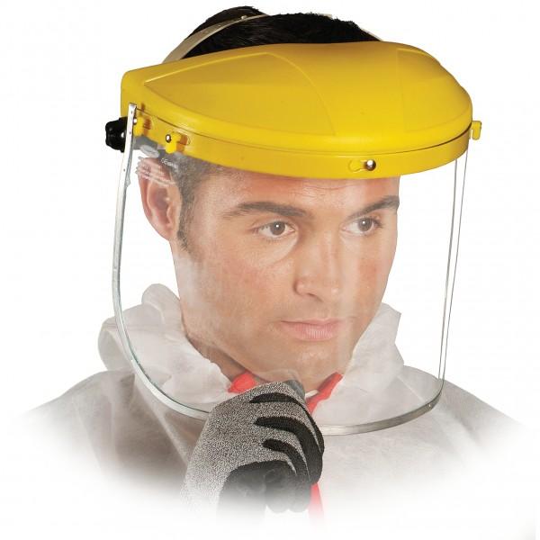 Schutzvisier - OTY - Gelber Halter - Polycarbonat