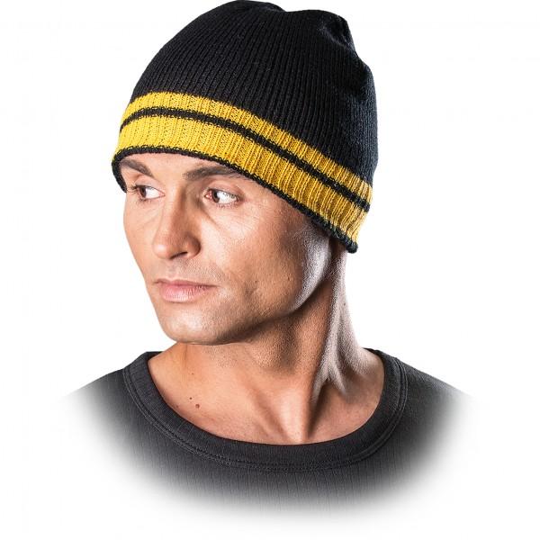 3x Wintermütze - CZPAS - Beanie Mütze - Schwarz und Gelb
