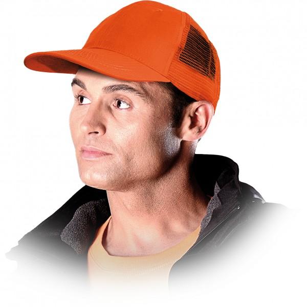 Cappy - Kappe - CZM - Netz-Design Orange