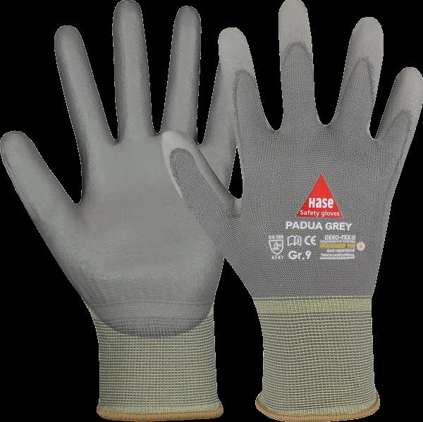 Montagehandschuhe - HASE - Padua Grey - 10 PAAR - Polyurethan