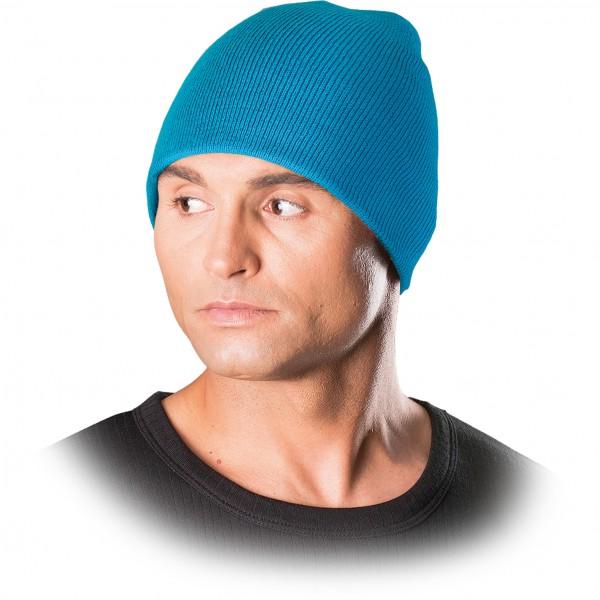 Wintermütze - CZMODERN - Beanie Mütze - Cooles Strickdesign - Hellblau
