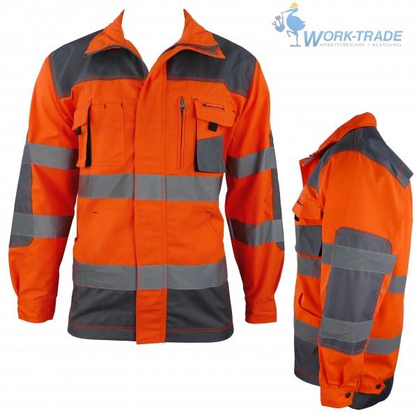 Arbeitsjacke - LHXJ - Leber & Hollman - Orange / Grau