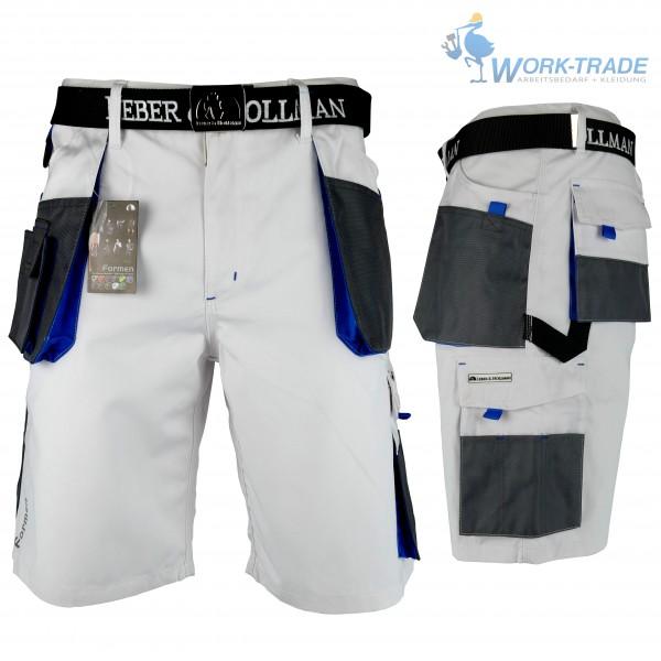 Arbeitshose - LHTS - Leber & Hollman - Weiß / Blau