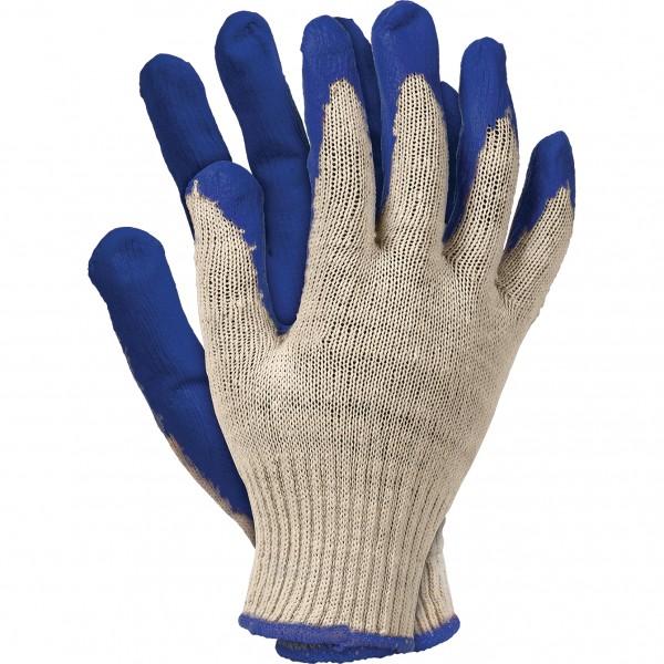 10 Paar Arbeitshandschuhe - RUN - 100% Baumwolle - Blau - Gr. 9