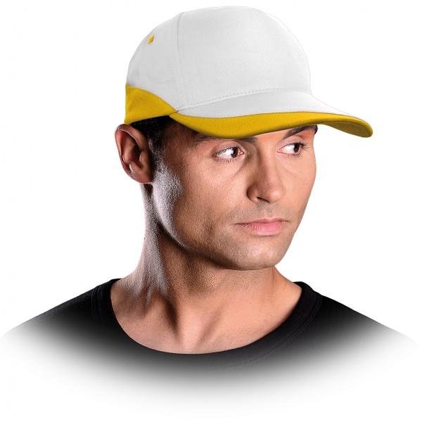 Cappy - Kappe - CZC - Modernes Design Weiß und Gelb