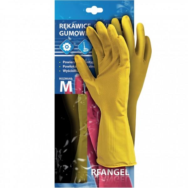 5 Paar Gummihandschuhe - RFR - Chemie - Gelb