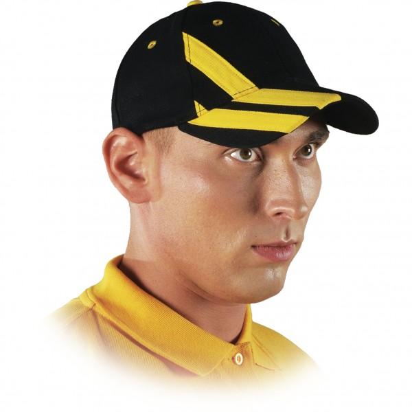 Cappy - Kappe - CZT - Modernes Design Schwarz Gelb