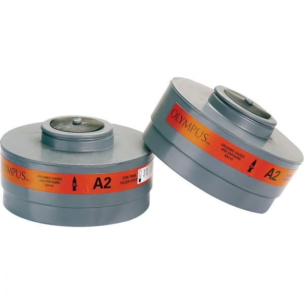Gasfilter - MIDI-A2 - 1 Paar - Typ A - Klasse 2 - JSP - Made in UK
