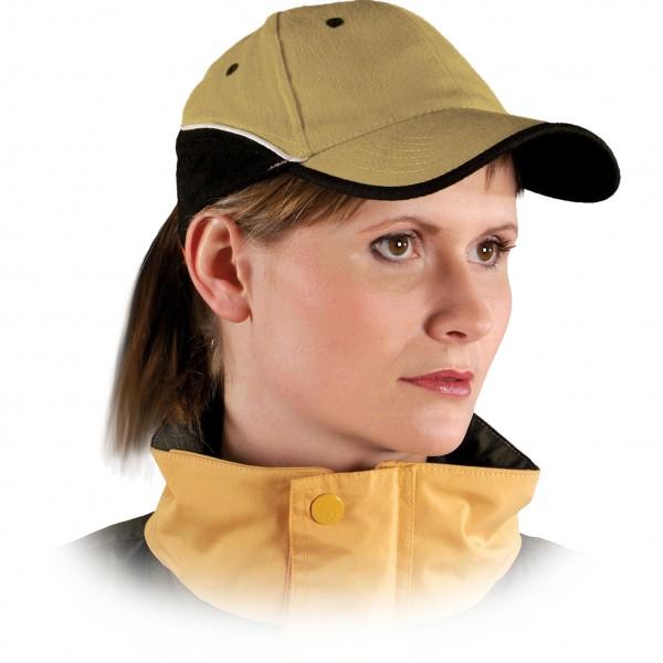 Cappy - Kappe - CZT - Modernes Design Gold Schwarz Weiß