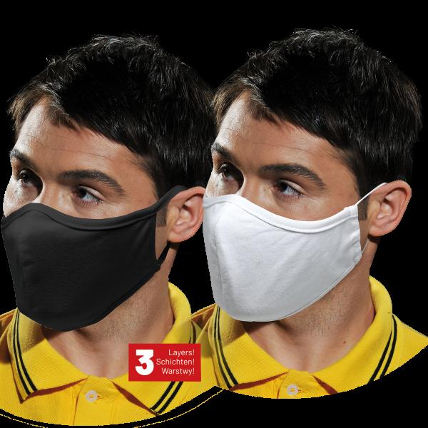 Maske 100 STÜCK Mundschutz 100% Baumwolle Stoffmaske waschbar Behelfsmaske 3-lagig