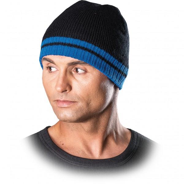 3x Wintermütze - CZPAS - Beanie Mütze - Schwarz und Blau