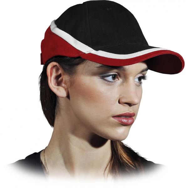 Cappy - Kappe - CZT - Modernes Design Schwarz Rot Weiß