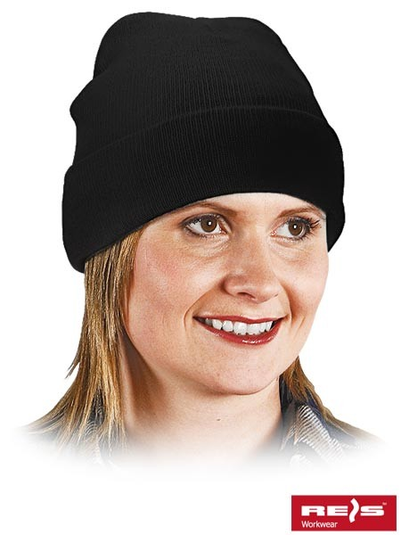 Wintermütze - BAW - 100% Acrylgarn - Schwarz
