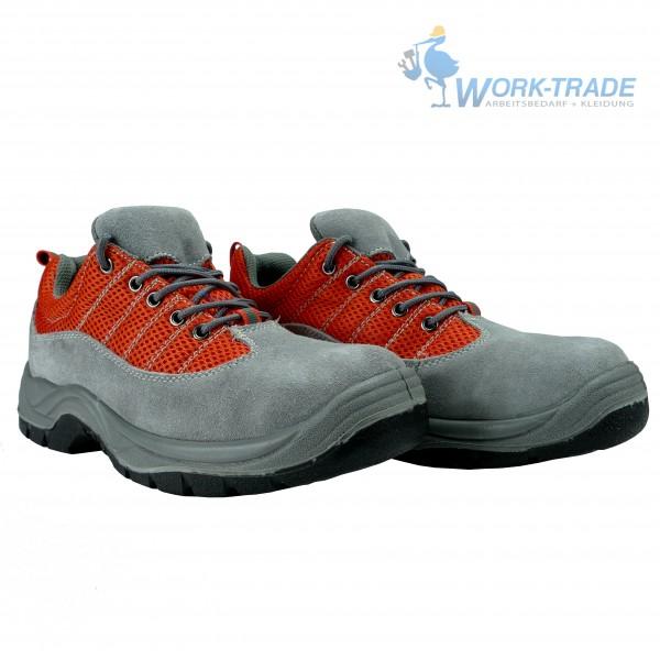 Arbeitsschuhe - XREIS - S1P - Wildleder - Orange und Grau