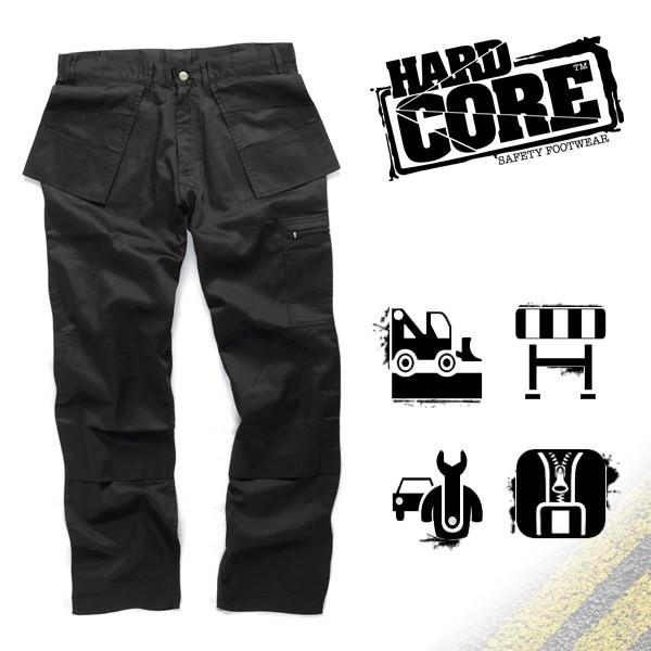 Arbeitshose - TROUSERS - Hard Core - Schwarz