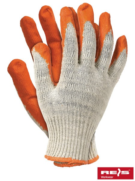 10 Paar Arbeitshandschuhe - RUP - 100% Baumwolle - Orange - Gr. 10