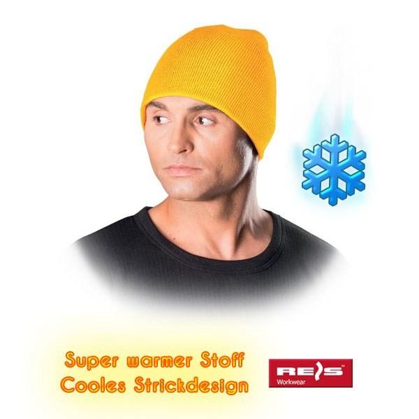 Wintermütze - CZMODERN - Beanie Mütze - Cooles Strickdesign - Gelb