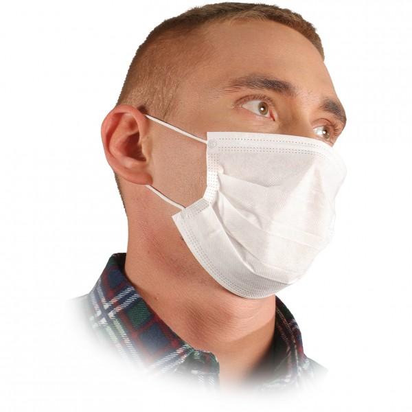 Hygienemaske - MAS-W - 100 STÜCK - 3 Schichten PP-Gewebe
