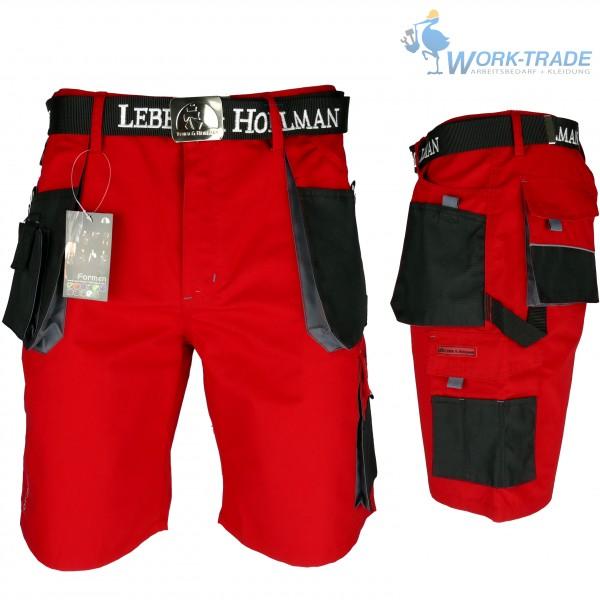 Arbeitshose - LHTS - Leber & Hollman - Rot / Schwarz