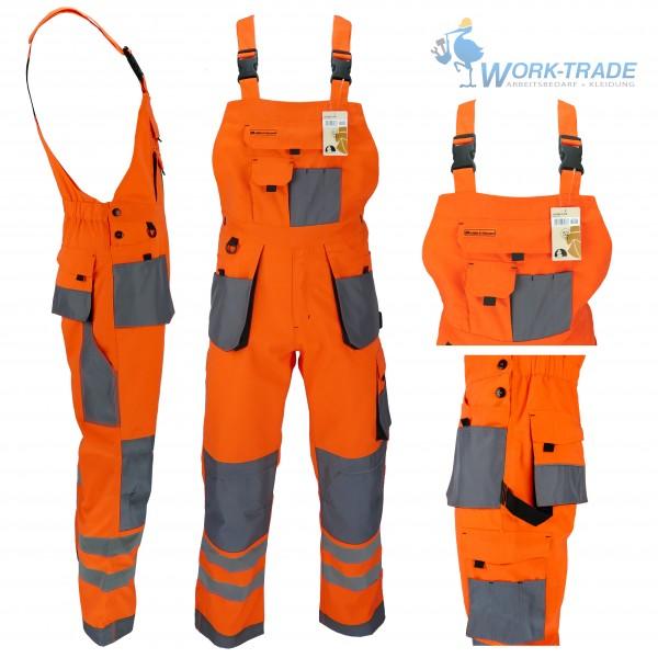 Arbeitslatzhose - LHXB - Leber & Hollman - Orange / Grau
