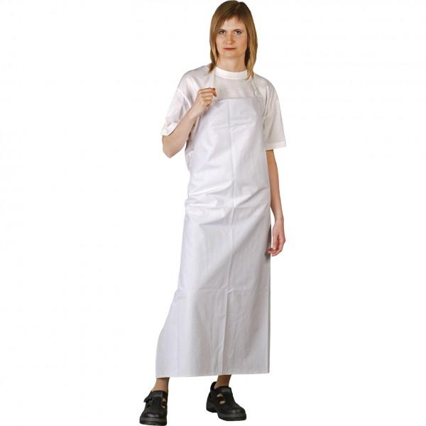 Schürze - LUX - Weiß - 100% PVC