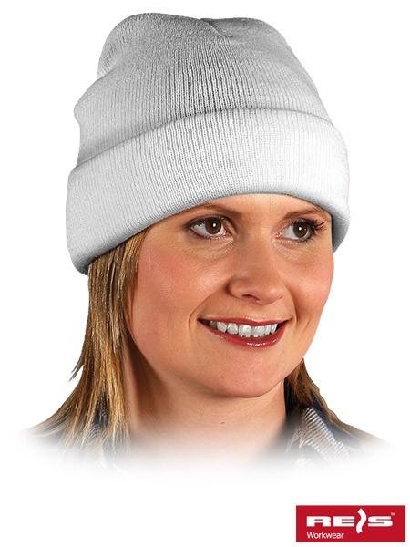 Wintermütze - BAW - 100% Acrylgarn - Weiß