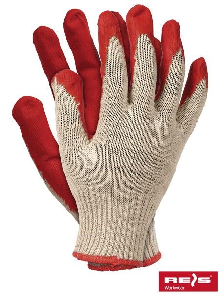 Arbeitshandschuhe - RUC - 100% Baumwolle - Rot - Gr. 9