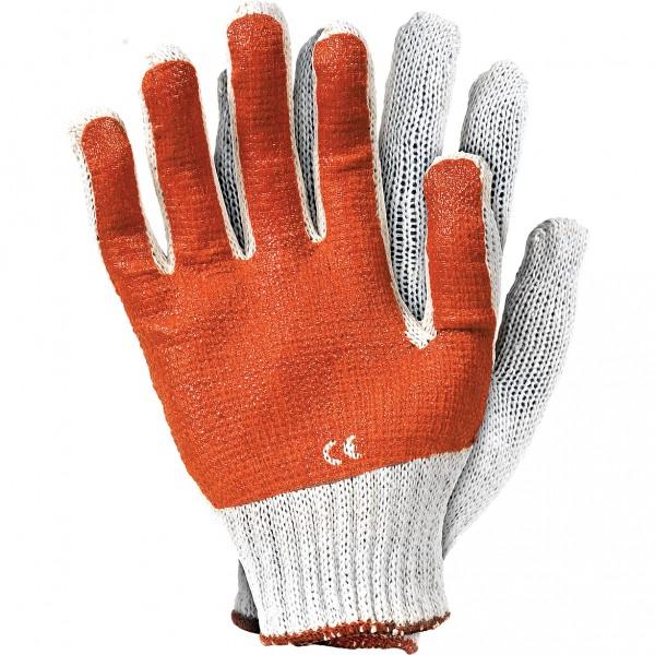 Arbeitshandschuhe - RRP - Orange und Weiß - Latex und PVC - Gr. 10