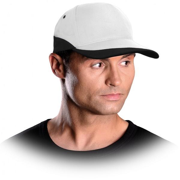 Cappy - Kappe - CZC - Modernes Design Weiß und Schwarz