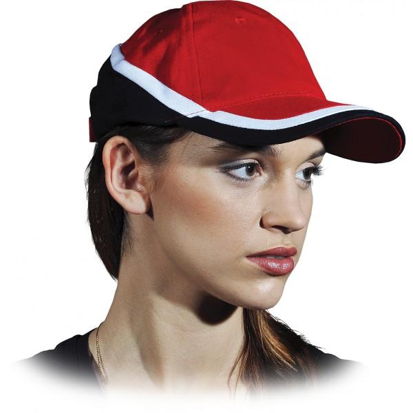 Cappy - Kappe - CZT - Modernes Design Rot Schwarz Weiß