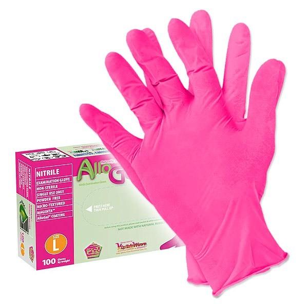 Schutzhandschuhe - Box mit 90-100 Stück - Antiallergen - AlloGel - Rosa