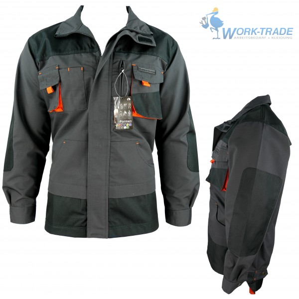 Arbeitsjacke - LHJ - Leber & Hollman - Schwarz / Orange