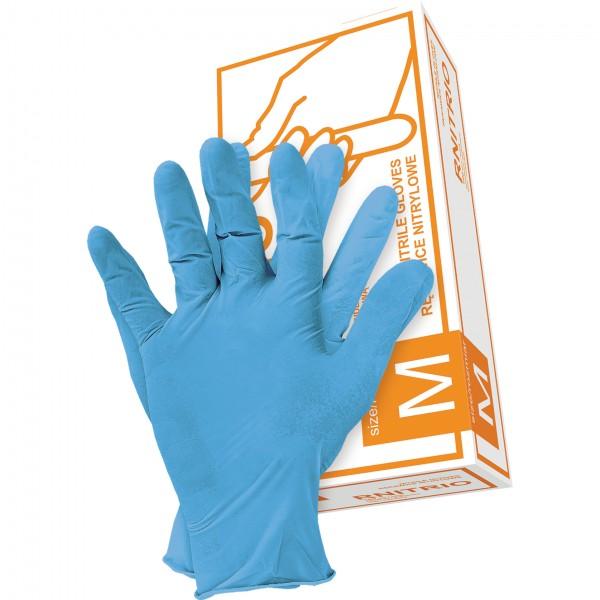 Schutzhandschuhe - Box mit 100 Stück - Puderfrei - Blau