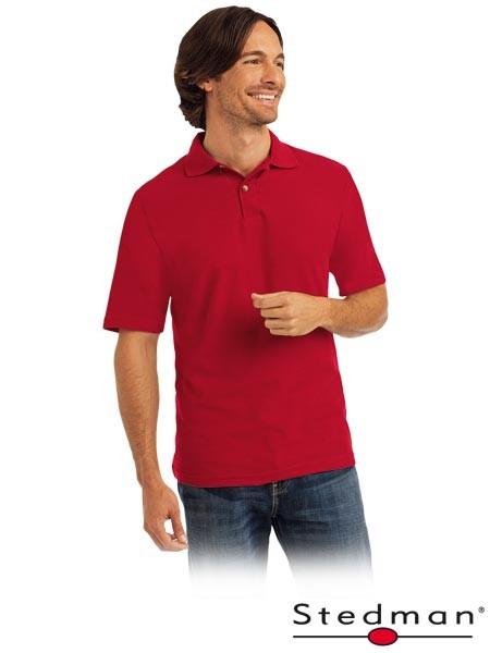 Herren-Polohemd - ST3000 - 100% Baumwolle - Rot