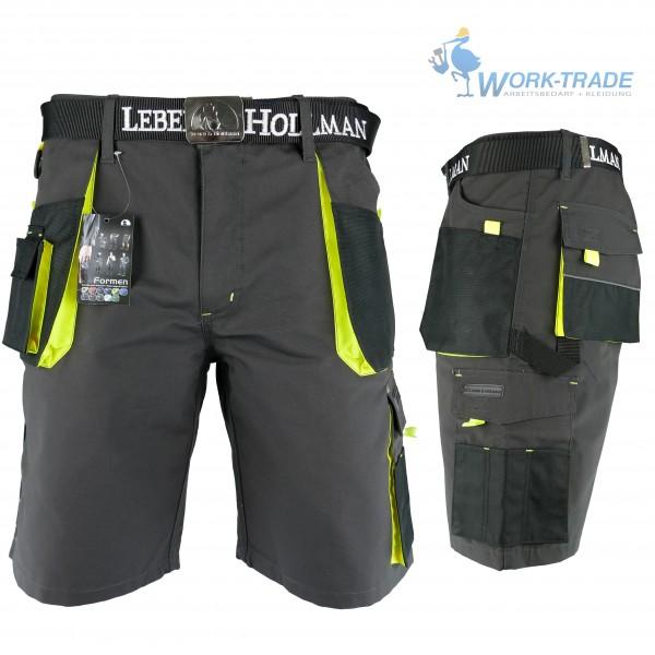 Arbeitshose - LHTS - Leber & Hollman - Schwarz / Gelb
